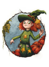 Pumpkin witch by Estefanía de C.