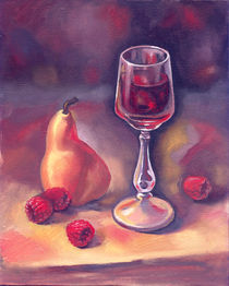Still life with raspberries by Stella Terzieva