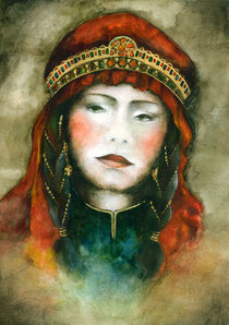 Portrait of Nomad woman von Marianna Venczak
