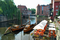 Die Ilmenau in Lüneburg by Eberhard Loebus