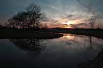 Sonnenuntergang am Bach by Miloslava Habermehl