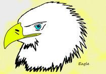 realistic cartoon eagle 1/2 by michael  arnott