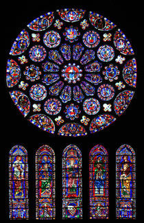 Chartres South transept rose von Armend Kabashi