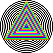 Rainbow Triangle in Circle von Chandler Klebs