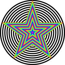 rainbow pentagram von Chandler Klebs