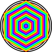 Rainbow-hexagon