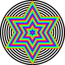 Rainbow-hexagram