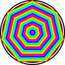 rainbow heptagon by Chandler Klebs