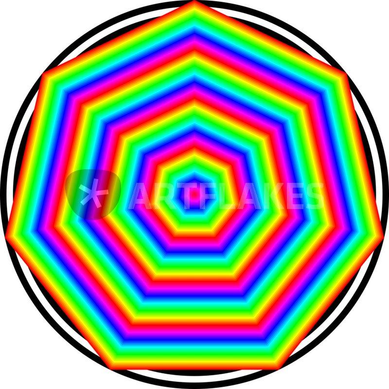 Heptagon   rainbow heptagon   Digital Art