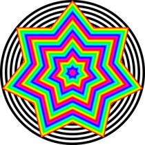 rainbow heptagram 7/2 by Chandler Klebs
