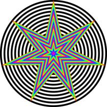 rainbow heptagram 7/3 von Chandler Klebs