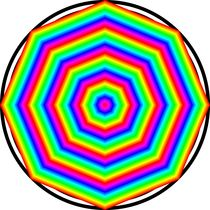 rainbow octagon by Chandler Klebs