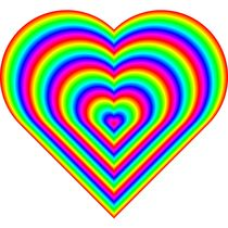 rainbow heart von Chandler Klebs