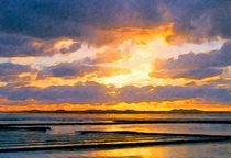 Abendlicht über dem Wattenmeer von Eckhard Röder