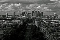 La Defense from Arc Triumph - Paris von NEVZAT BENER ALADAGLI