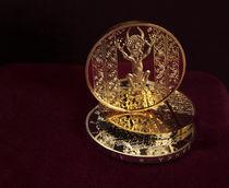 Golden devil from Codex Gigas von artefy