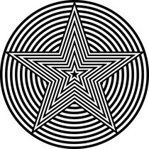 Zebra-pentagram