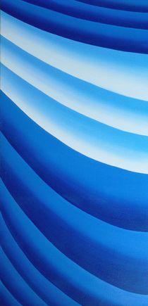 blue flow - Teil 2 (rechts) von Katja Finke