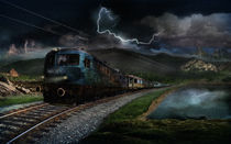 Ghost train by Elena V Nedelcu