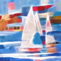 Sailing Digital Art by Lutz Baar