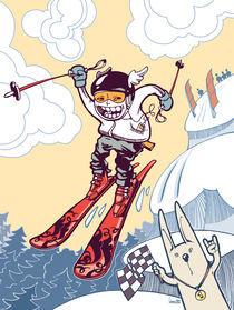 The brave ski freerider. von Oleksiy Tsuper