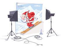 Skiing Santa Claus. by Oleksiy Tsuper