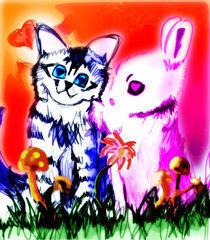 Kitty Bunny Love by kostia