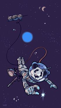 'Panda the astronaut.' by Oleksiy Tsuper