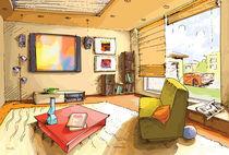 Light living room.  von Oleksiy Tsuper