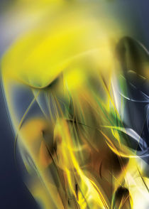 Yellow abstract liquid flow by Maciej Frolow