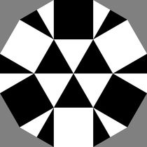 black and white dodecagon puzzle von Chandler Klebs