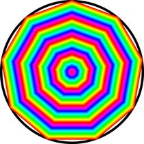 rainbow nonagon von Chandler Klebs
