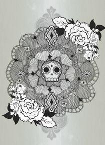 Skulls love Lace by Miriam Castillo