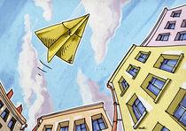 Paper plane.   by Oleksiy Tsuper