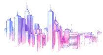 City Skyline. von Oleksiy Tsuper