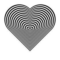 zebra heart by Chandler Klebs