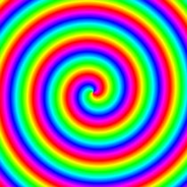 rainbow spiral clockwise von Chandler Klebs