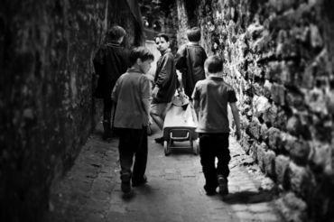 Paris-ecoliers-de-passy-schoolboys-of-passy-black-and-white