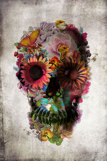Floral Skull von Ali GULEC