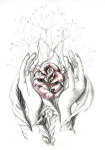 rose and hands leave by Nicole Schmidt