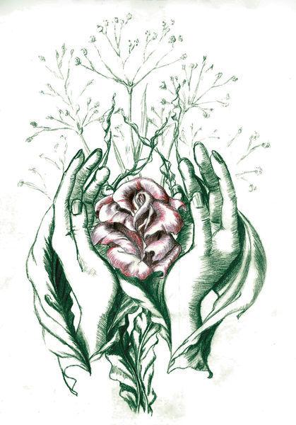 Hands-rose-blatt-twocolor