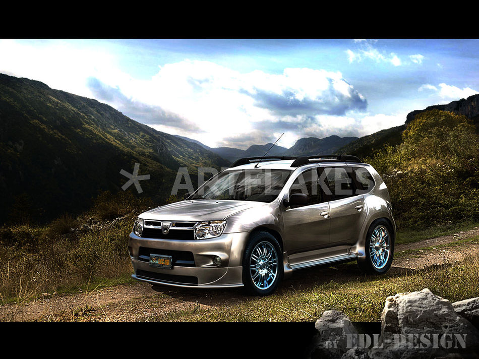 dacia duster tuning digital art art prints and posters. Black Bedroom Furniture Sets. Home Design Ideas