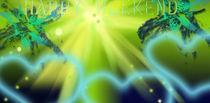 Freshness Light of Green Fantasy and Hope von Martina Ute Rudolf