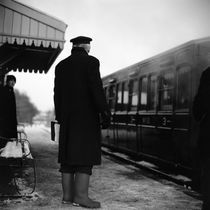Railway Guard, Mid-Suffolk Light Railway, 2009 by Paul Cooklin