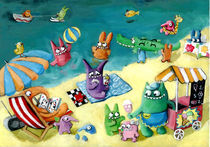 Summer Holidays with Cute Monsters by Monika Suska
