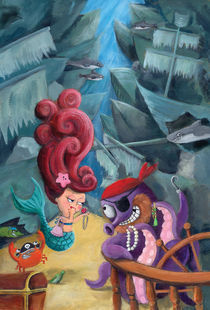 Mermaid and Pirates von Monika Suska