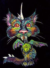 Dragoncat in Chalk von Heather Anne Pope