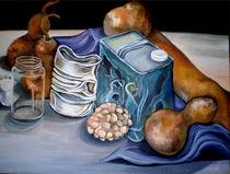 Still Life with Cans & Gourds von Heather Anne Pope