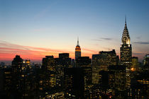 Manhattan Skyline - New York - Dawn / Dämmerung 01 - 3x2 von temponaut