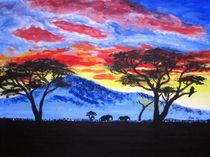 African sunset by Katri Ketola